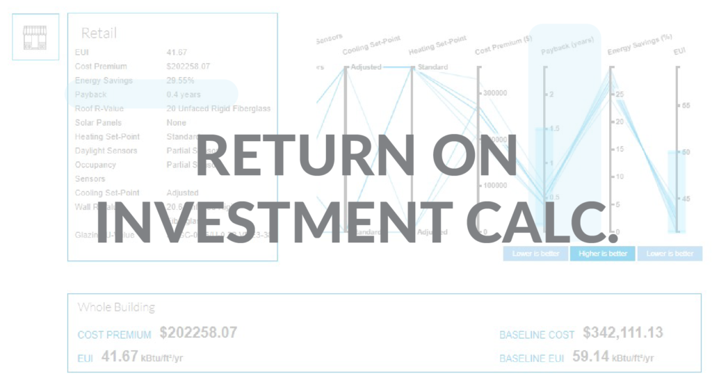 Return on Investment and Simple Payback using cove tool